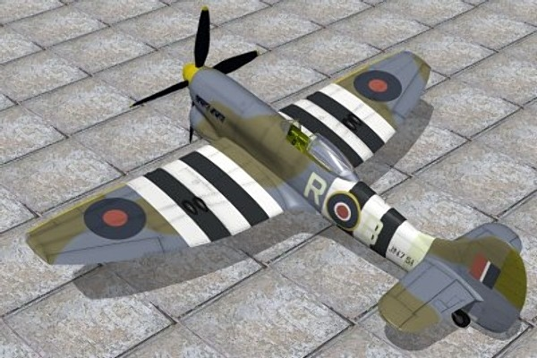 3d model hawker fighter tempest