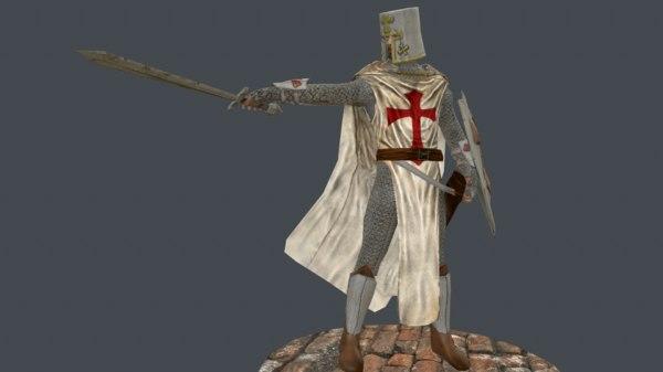 3d templar warrior medieval