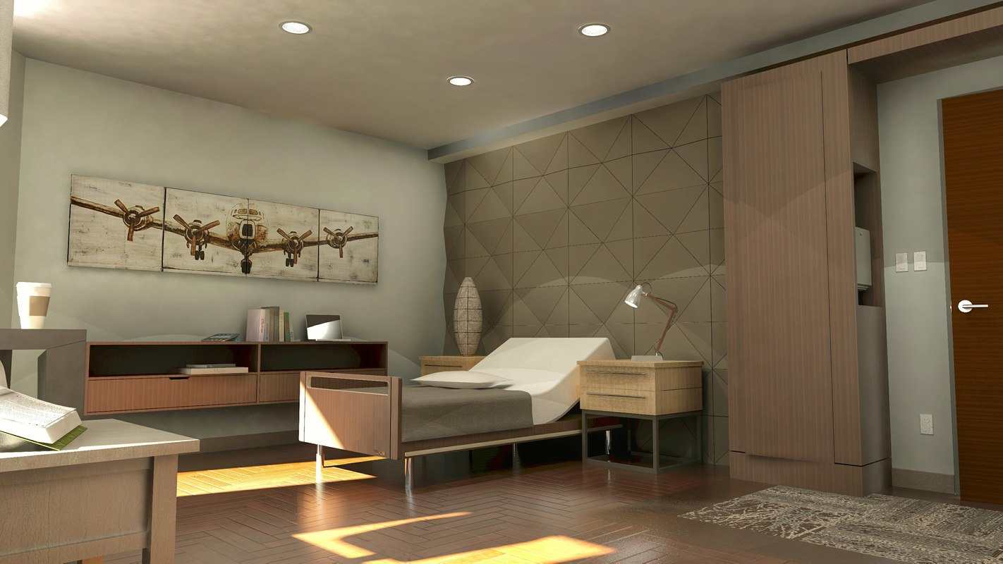 3ds max hospice room