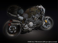 post apocalyptic motorcycle 3d model