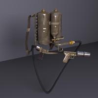 3d m2 flamethrower 2 model