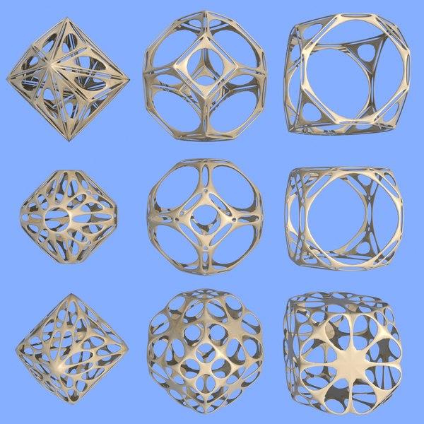geometric shape mht-07 3d max