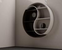 books yin yang 3d c4d