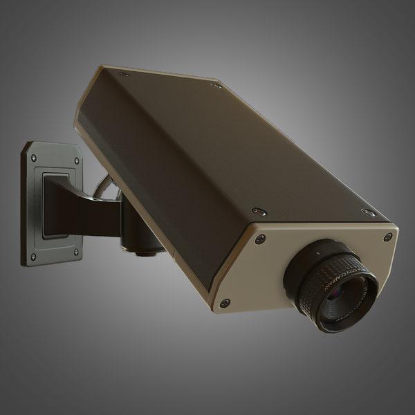 cctv camera 3d obj