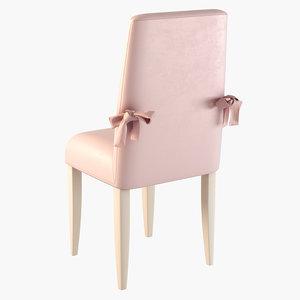 3d model chair ferretti
