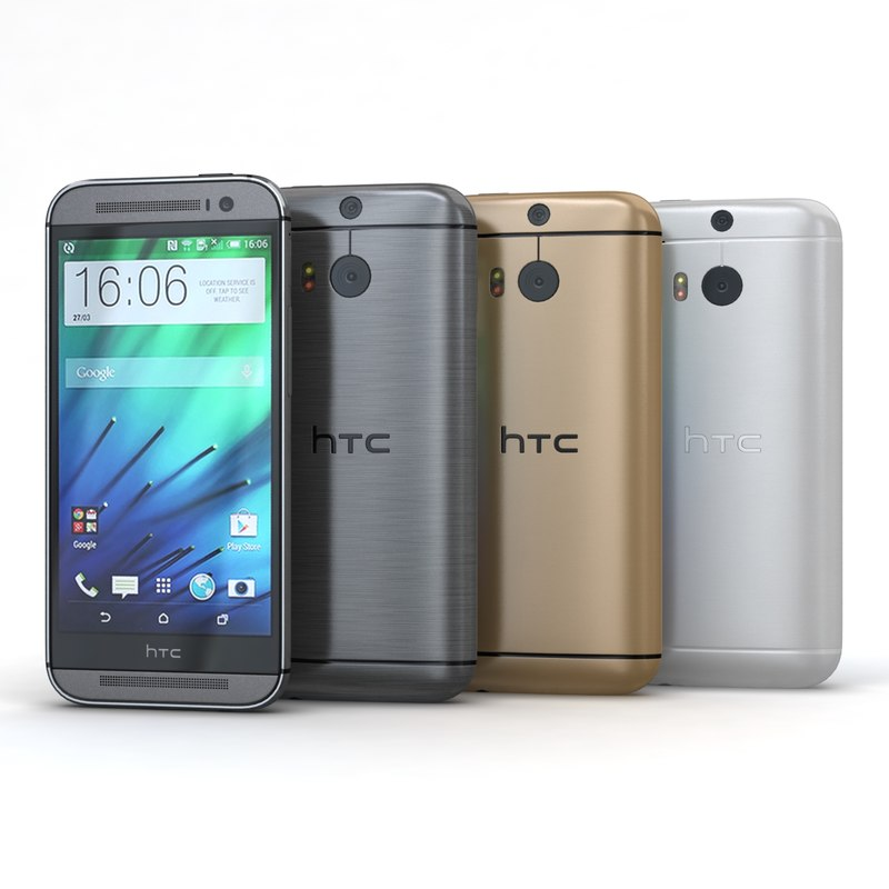 3d model htc m8 color