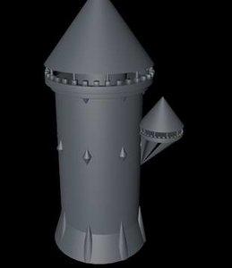 princess circular tower 3d 3ds