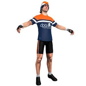 3d cyclist helmet glasses model