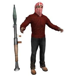 terrorist man 3d x