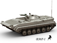 3ds max bmp-1 infantry