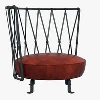 3d baxter pedro armchair
