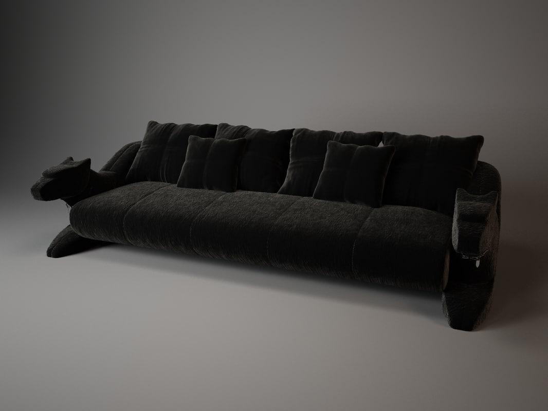 3ds max bismarck sofa visionnaire