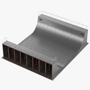 half pipe 3d model