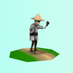 3ds max old farmer