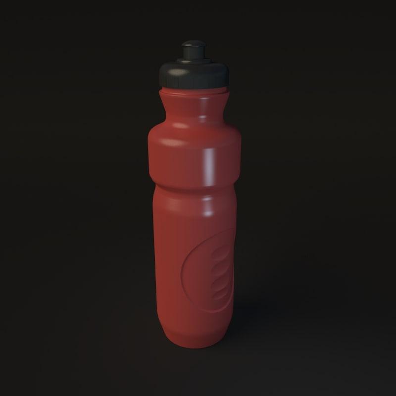 water bottle obj