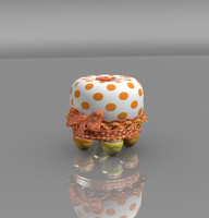 Orange Children Stool fruit cherry fruffet tuffet little cute fun chocolate banana lemon miss muffet chair bedroom furniture