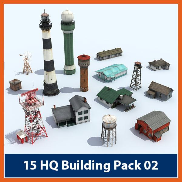 3d pack buildings model