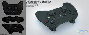 android tv controller 3d model