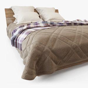 bed sheet m01 3d max