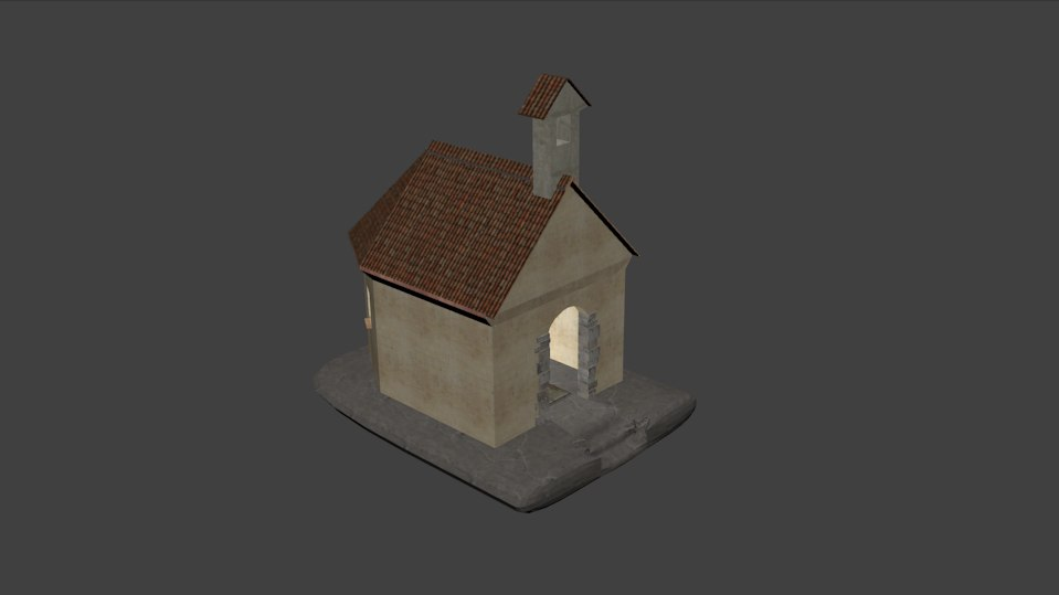 chapel walkable 3d 3ds