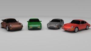 car porsche 3d model