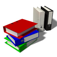 3d model office folders