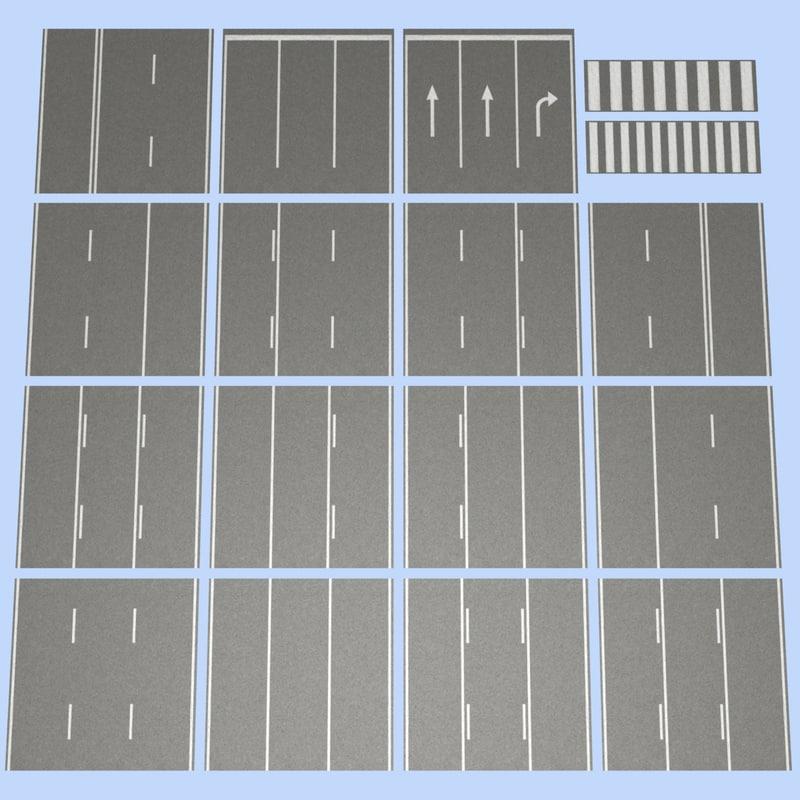 road mht-02 3 lane 3d model
