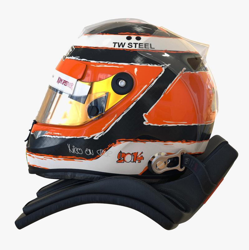 3ds max racing helmet nico hülkenberg