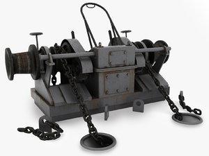 max windlass modelled v-ray