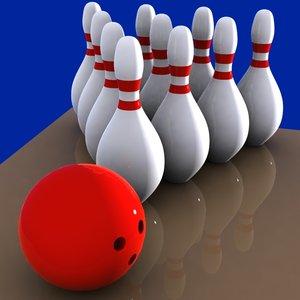 3d cartoon bowling ball