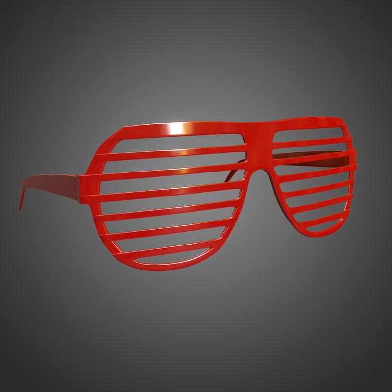 shutter shades 3d model