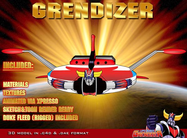 3d model grendizer goldorak goldrake