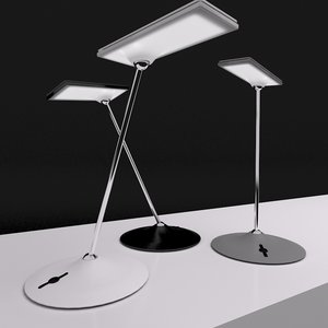 led desk lamp humanscale 3d model