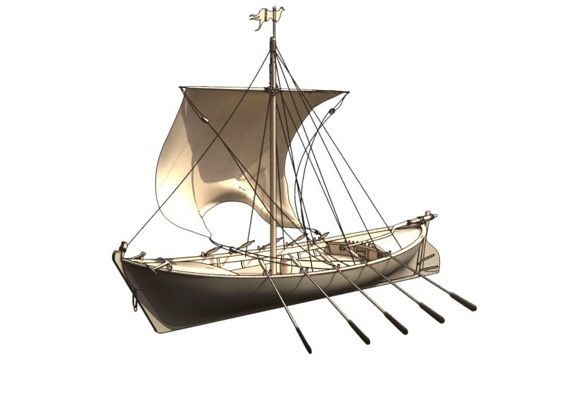 sailing ship historic 3d model