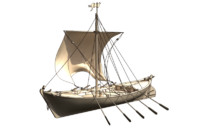 sailing ship historic 3d model