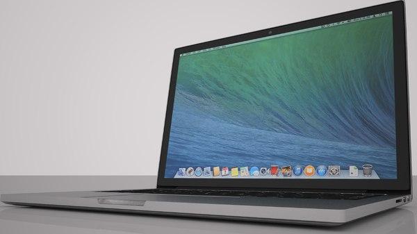 3d model of 13 inch laptop pro