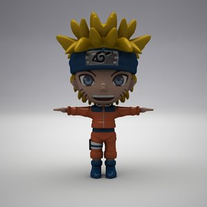 3d naruto modelled