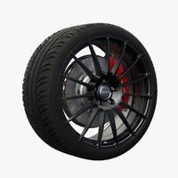 nitro extreme wheel 3d obj