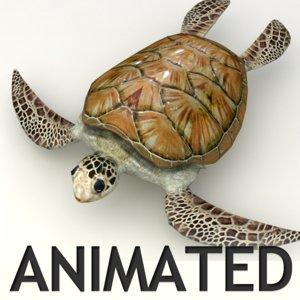 swim animation obj