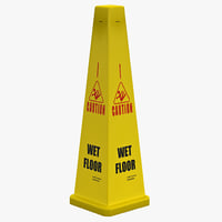 Wet Floor Cone Yellow