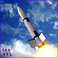 3d model condor-i missile condor