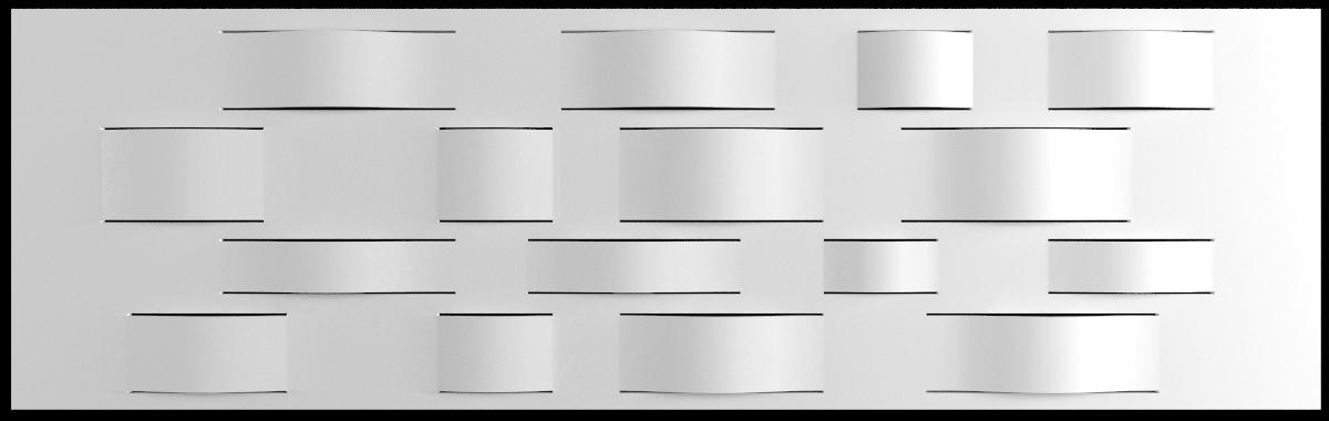 dupont corian wall panel 3d model