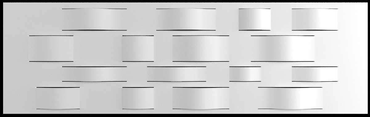 dupont corian wall panel 3d model