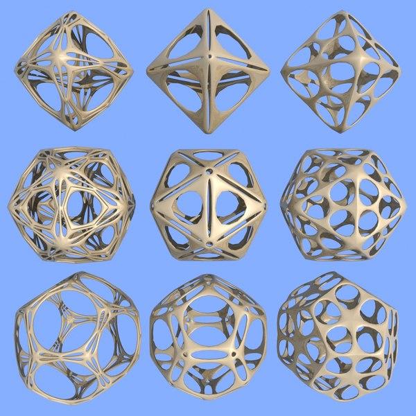 3d geometric shape mht-02 model