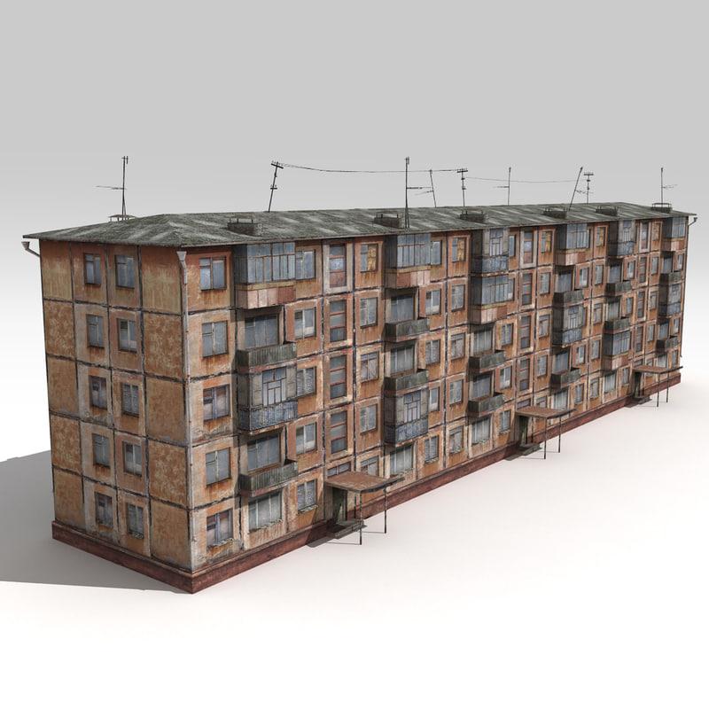 3d soviet house
