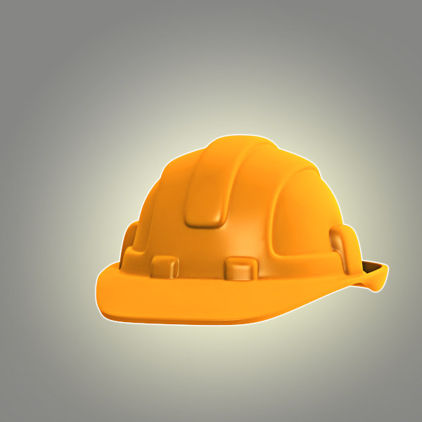 cartoon hard hat obj