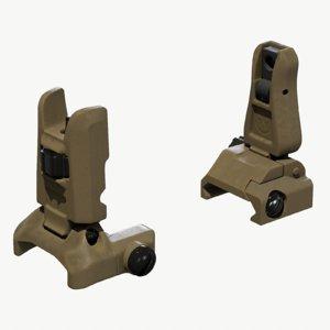 tactical sights mbus pro 3d model