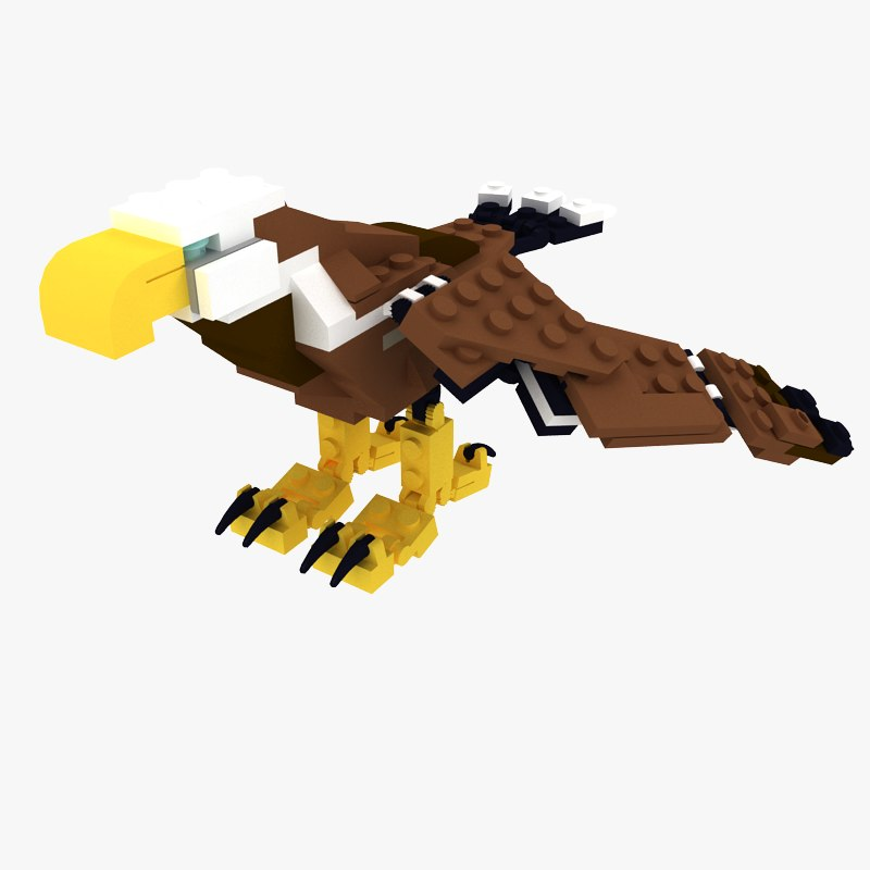 3d lego eagle wings model