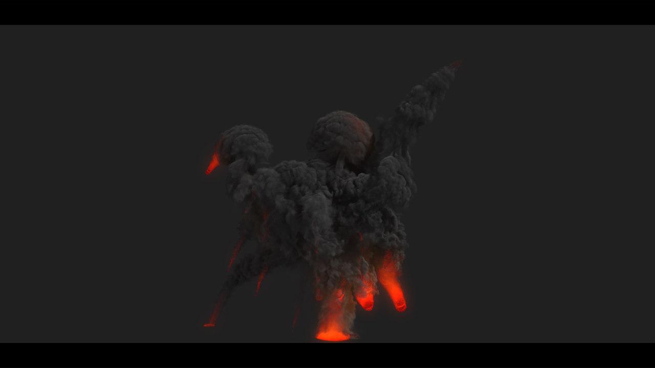 3d explosion fx fumefx