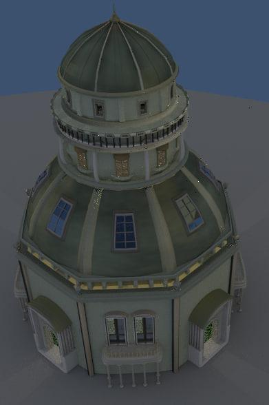 medivial tower obj